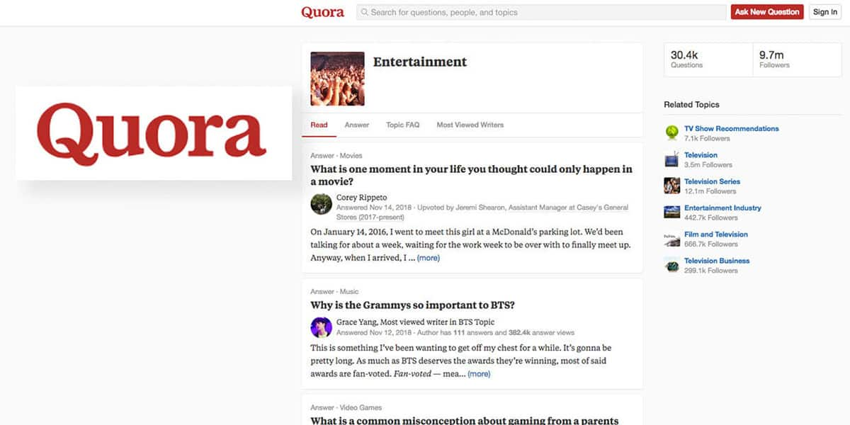 Quora Forums About Your Topic