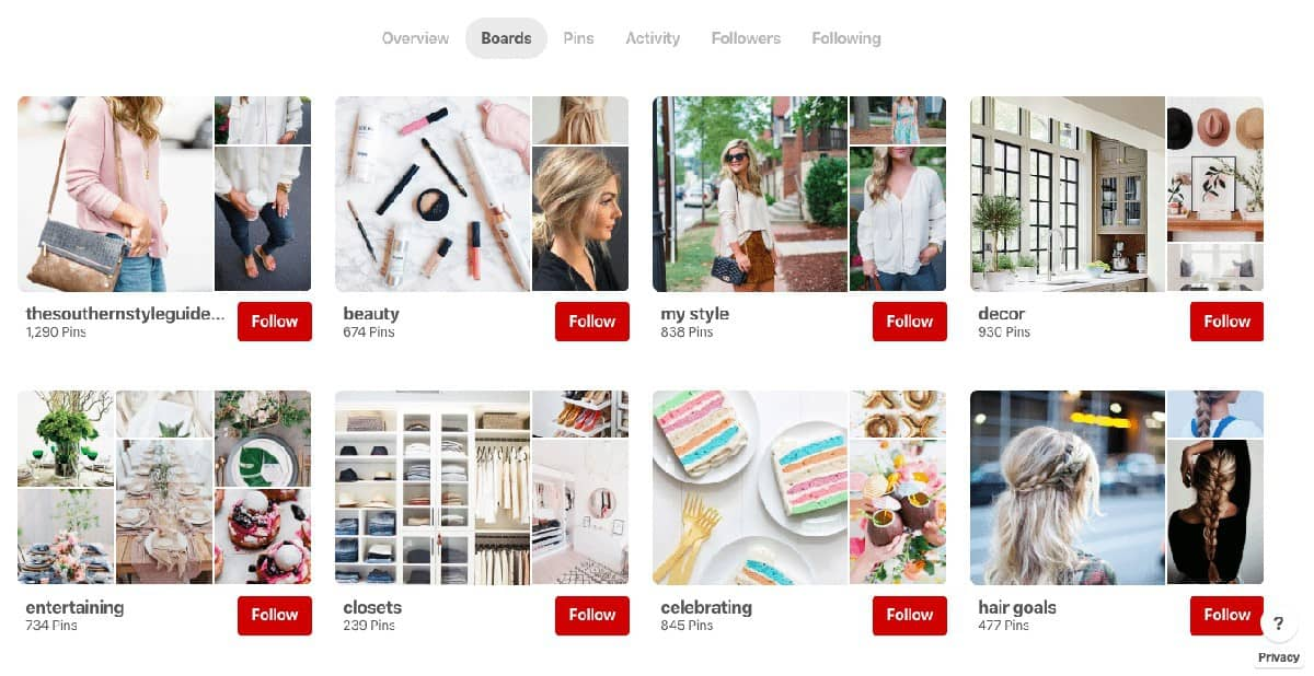 Pinterest Featured Boards​
