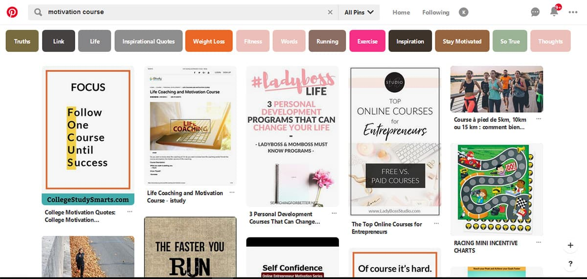 Pinterest Online course