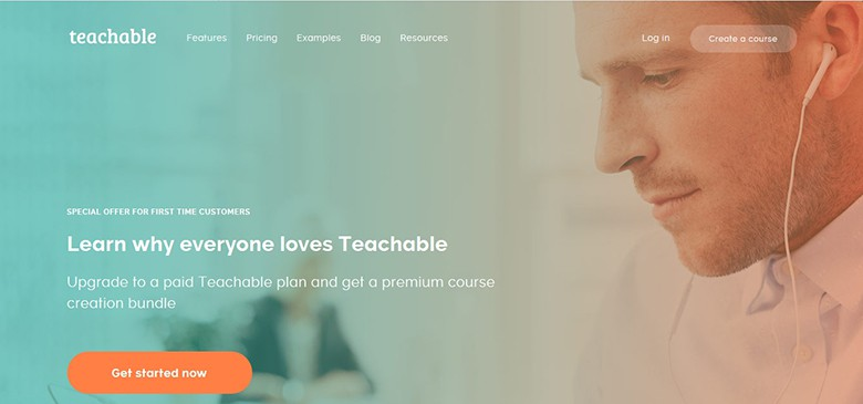 Teachable platform main page