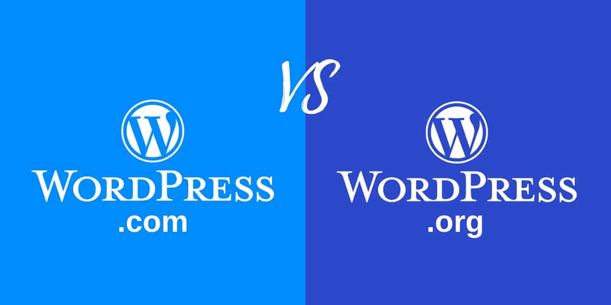 Wordpress.org vs. WordPress.com comparison image