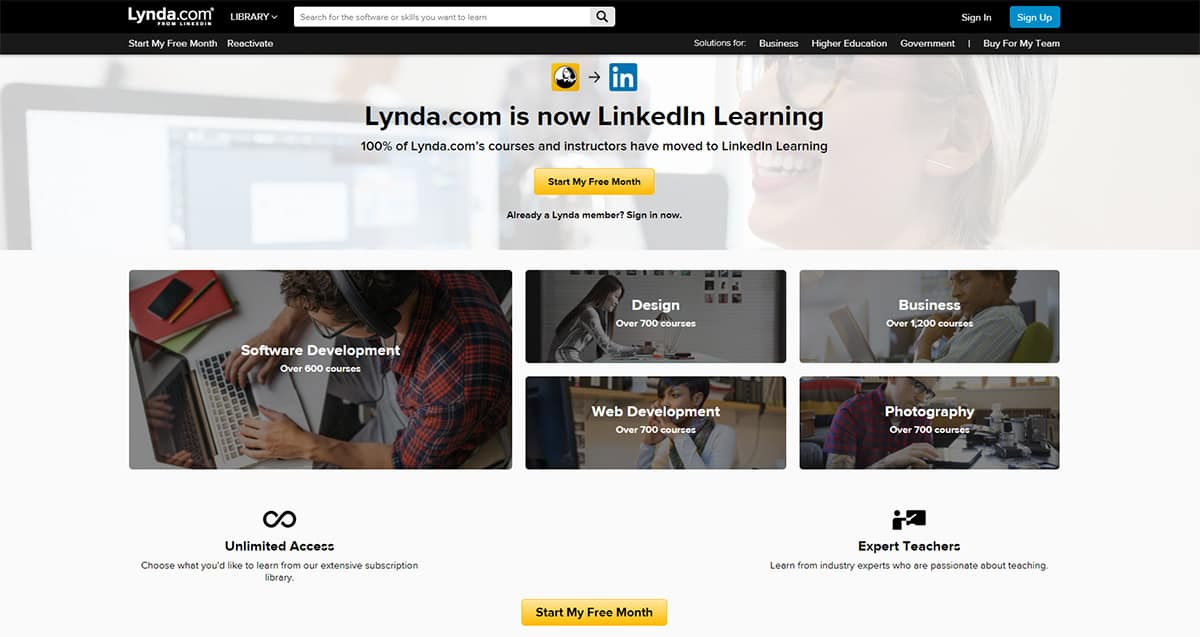 Udemy vs. Lynda: Side By Side Comparison & Review