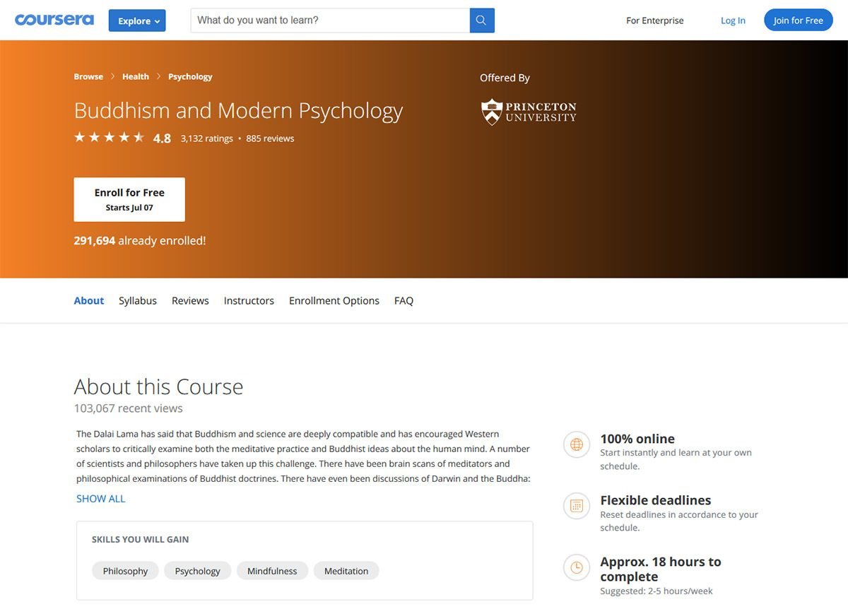 Buddhism and Modern Psychology - Coursera