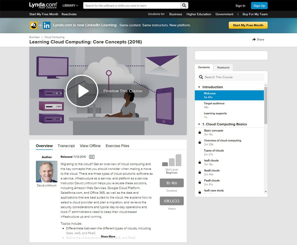 Lynda course example