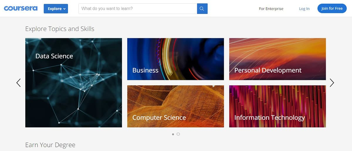 Coursera offers courses