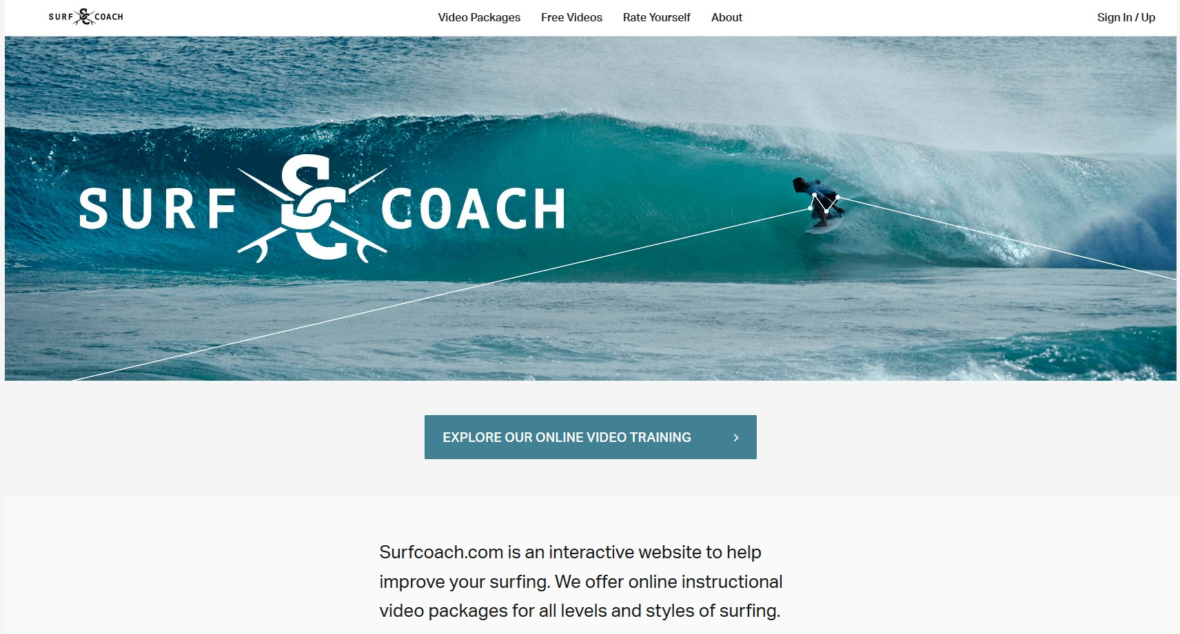 example of an independent course from surf coach online