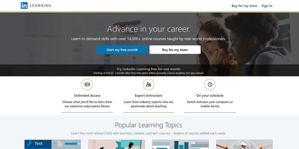 LinkedIn Learning (Formerly Lynda.com)