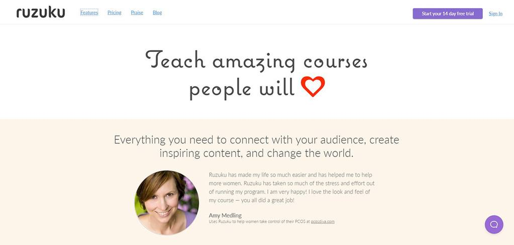 Ruzuku - Teach Amazing Courses People will Love