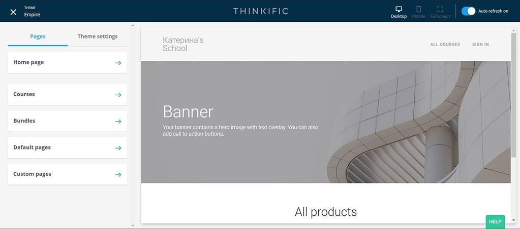 Site Builder _ Thinkific