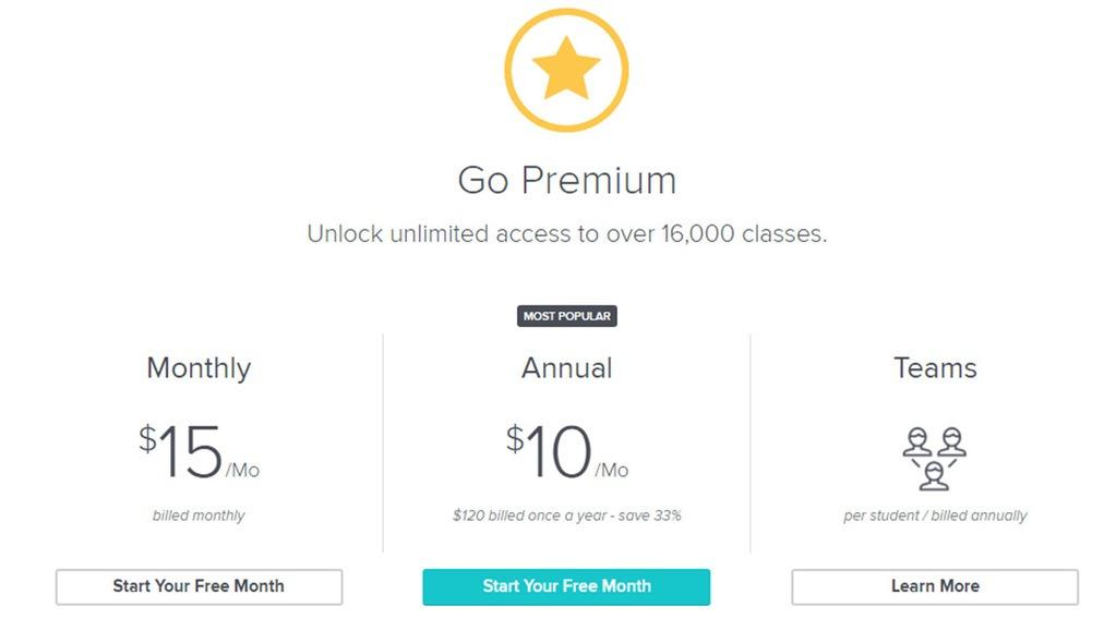 screenshoot Skillshare Premium
