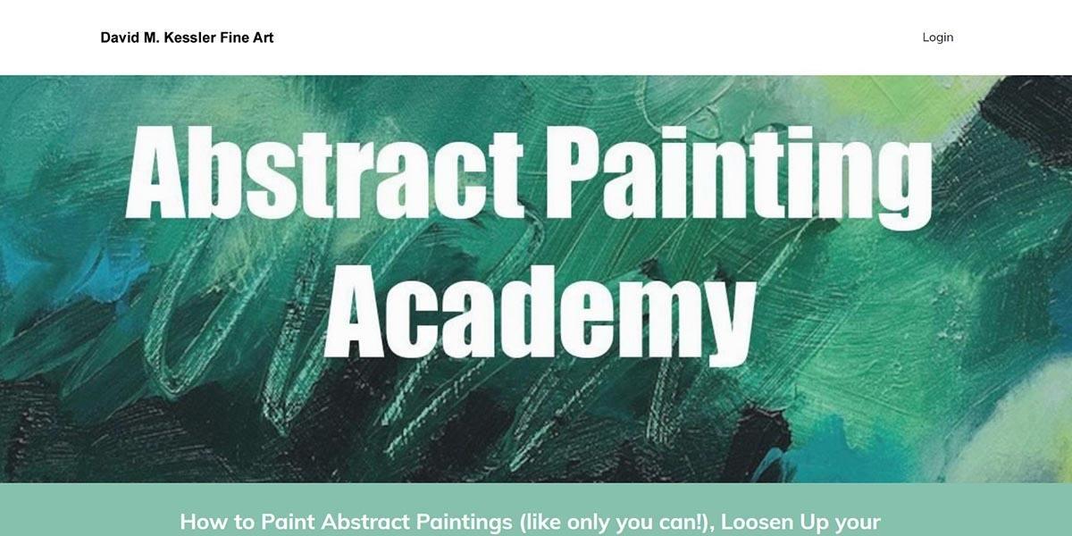 Kajabi Course Example 1: Abstract Painting Academy