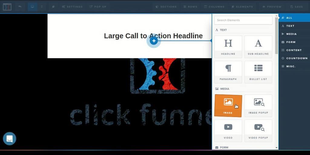 Clickfunnels webpage editor