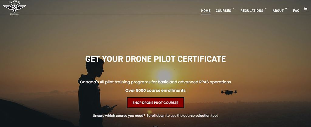 Thinkific online course Coastal Drone Co