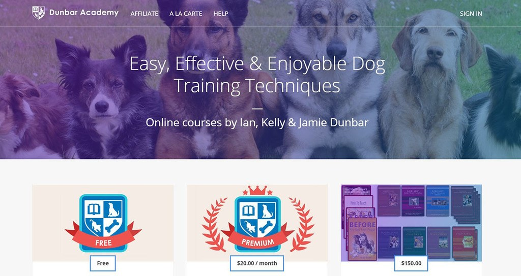 Thinkific online course Dr. Dunbar's Dog Behavior & Training Academy