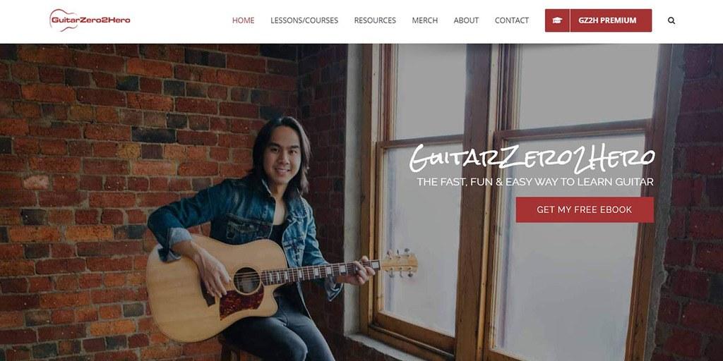 Thinkific online course GuitarZero2Hero