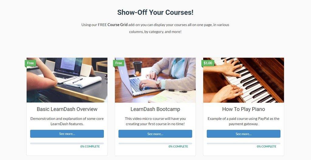 LearnDash content