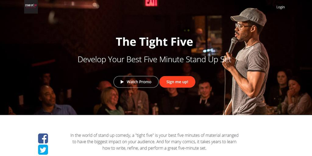 Teachable online course Standup NY