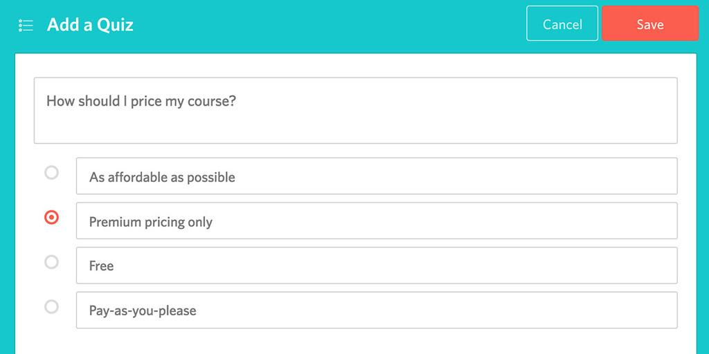 Teachable Quizzes