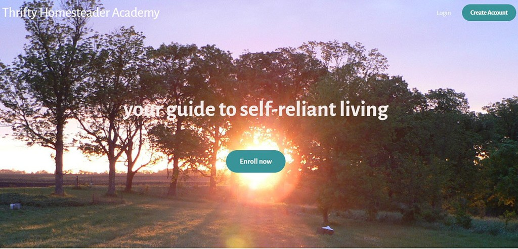 Teachable online course Thrifty Homesteader Academy