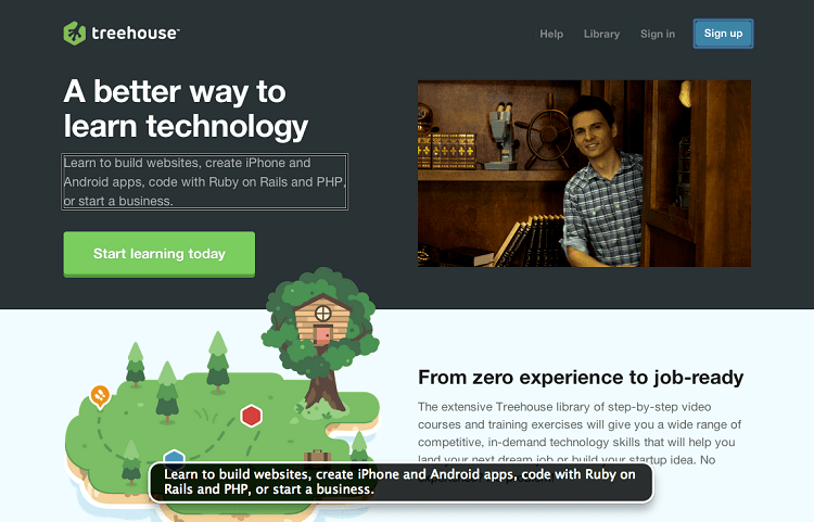 treehouse page