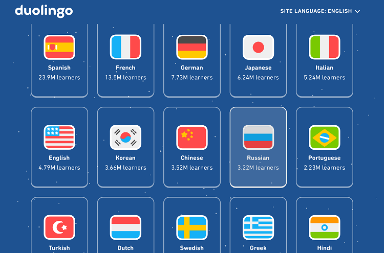 languages in duolingo