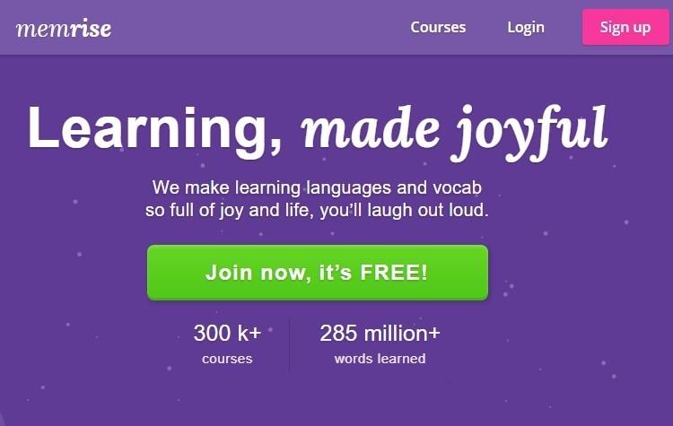 free online learning on memrise