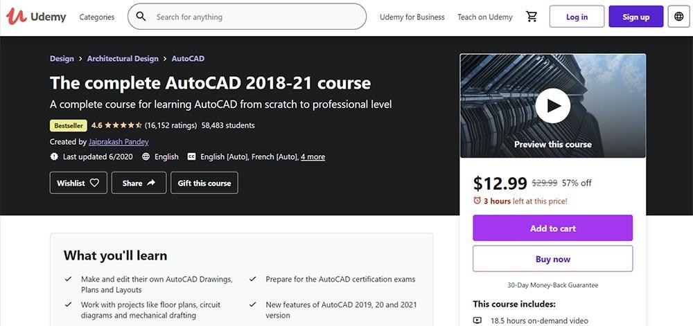 The-Complete-AutoCAD-2018-20-Course-Tutorial-Udemy