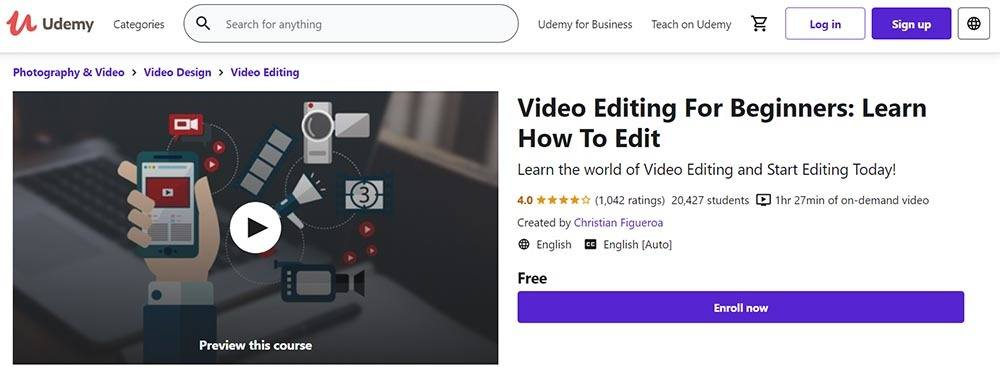 Video Editing For Beginners: Learn How To Edit - by Christian Figueroa