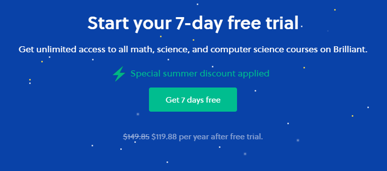 Brilliant.org offers a 7-day free trial